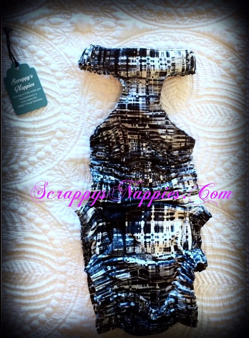 Scrappy's Nappies Custom Made Pet Garment. Diapering