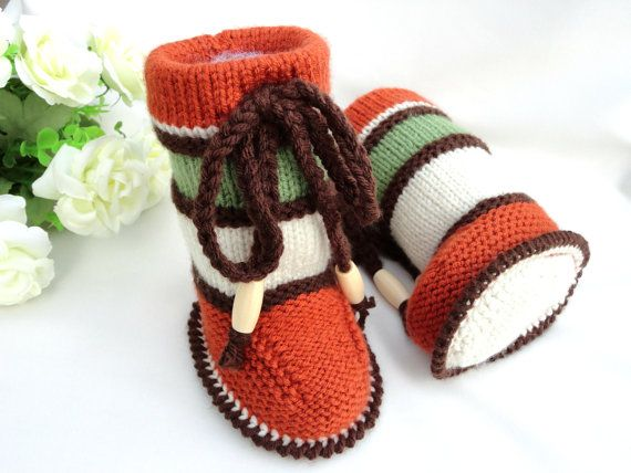 Knitting PATTERN Baby Booties PATTERN Knit Baby Shoes Baby Boy Baby ...