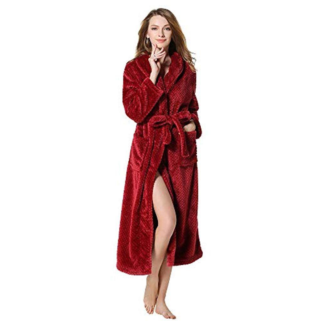 474fc7f4d961b LianMengMVP Grande Taille Vêtements de Nuit Femme Homme Kimono Tissage Gaufré  Peignoir de Bain Unisexe Couple