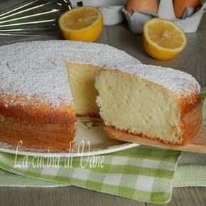 torta di albumi ricotta e limone.
