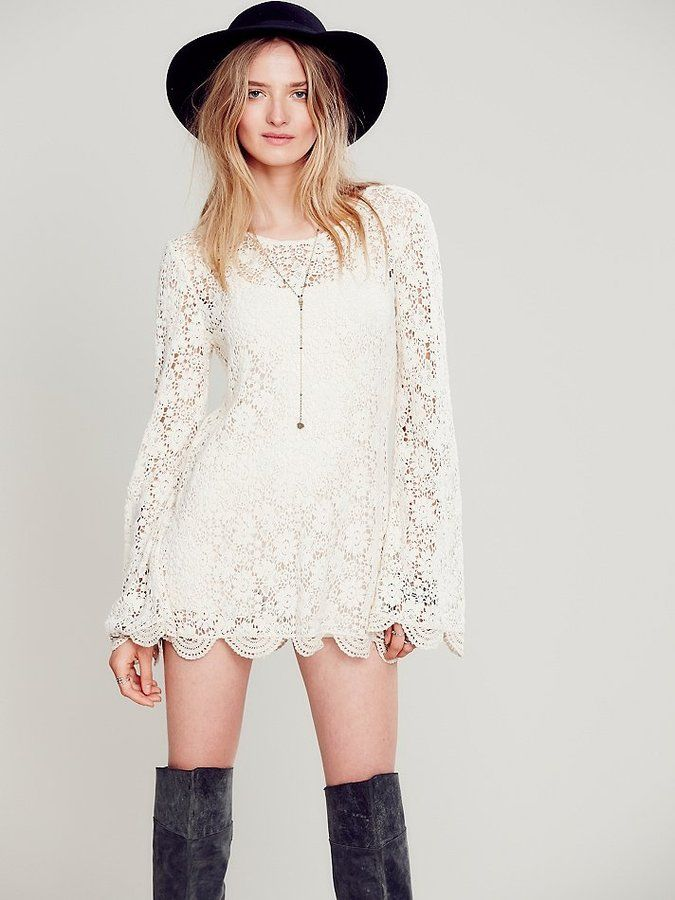 08efa078751 Free People Infinite Arms Lace Tunic on shopstyle.com