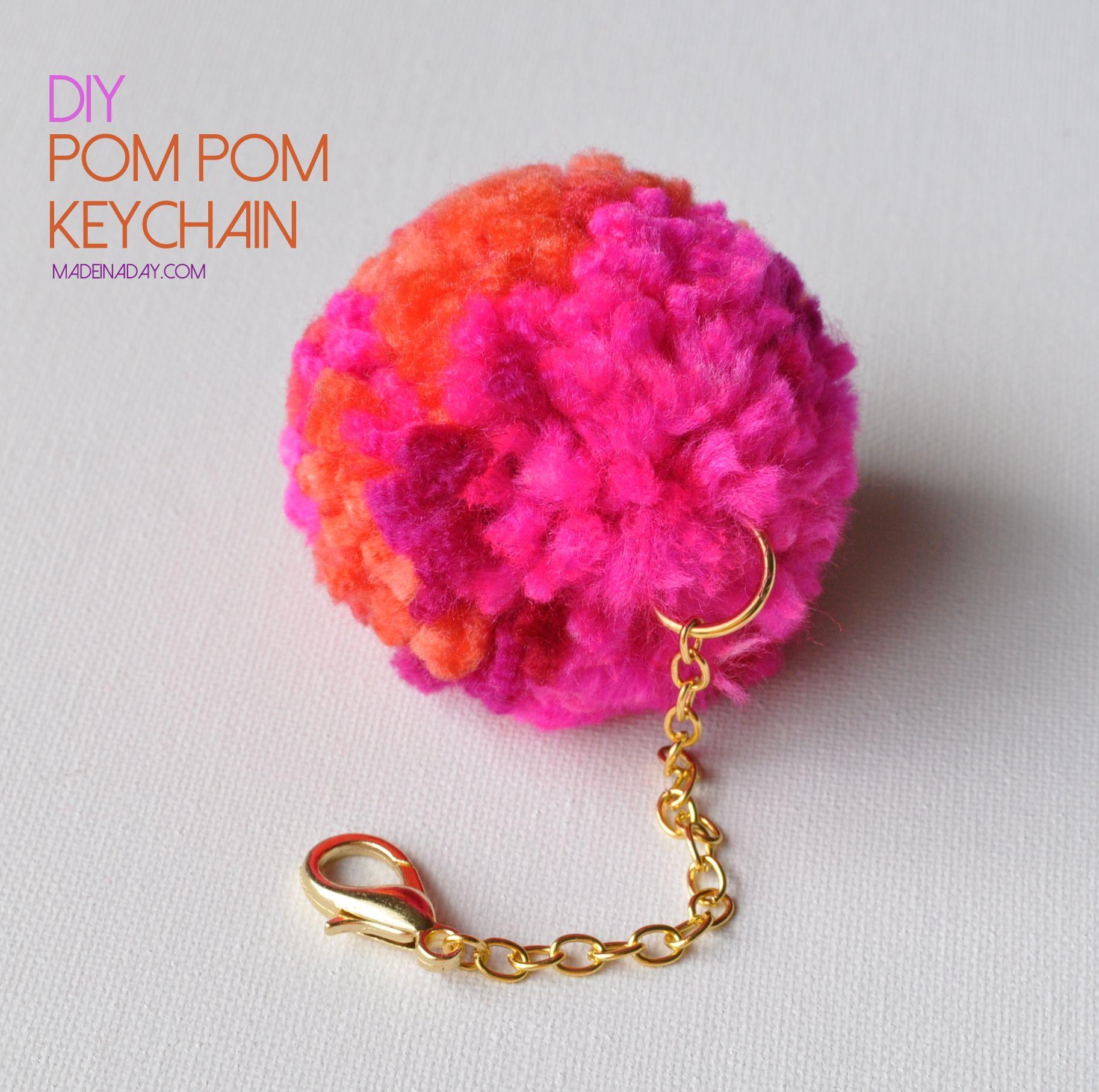Diy pom pom keychain clover pom pom maker pom pom maker for Homemade crafts for sale online