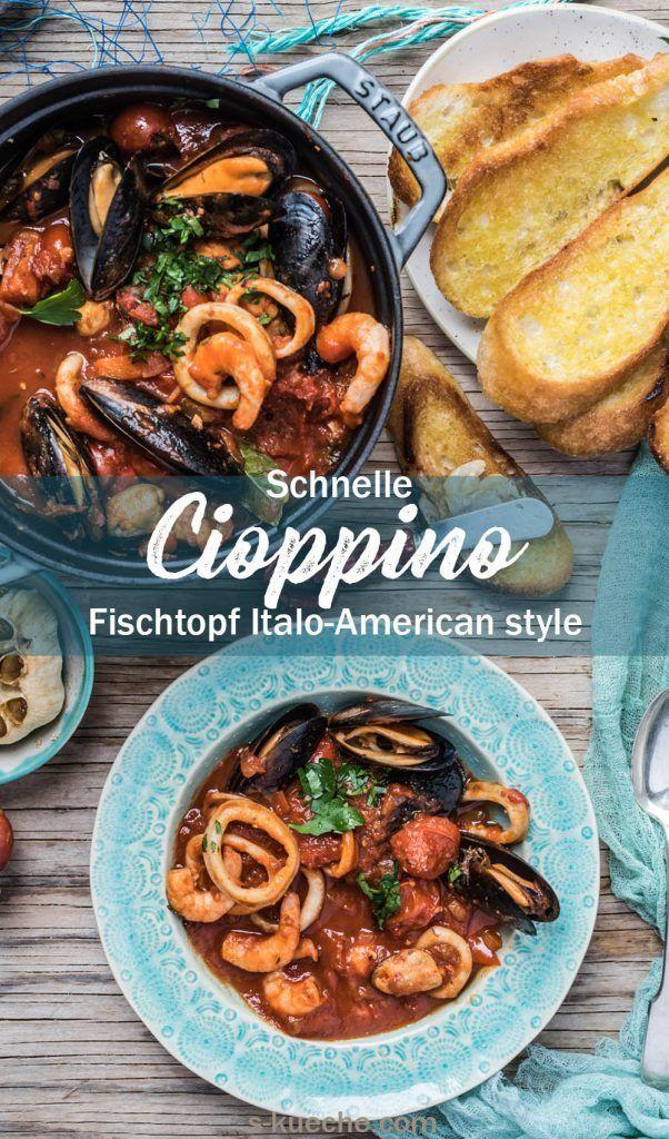 Schnelle Cioppino - Meeresfrüchte Topf Italo-American Style