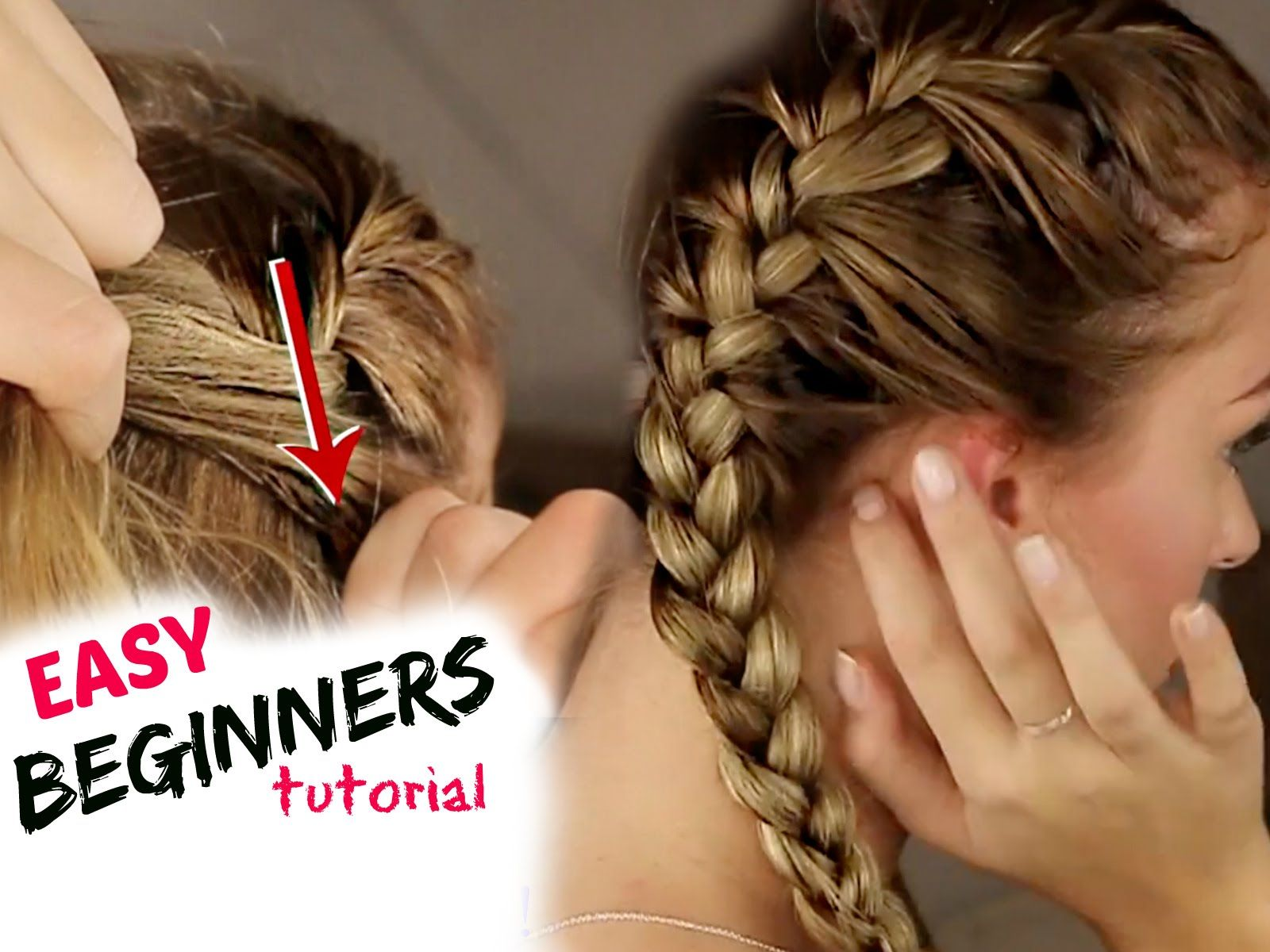 Tutorial How To Braid Your Hair Step By Step For Beginners Youtube Braided Hairstyles Easy Braided Hairstyles Tutorials Braiding Your Own Hair