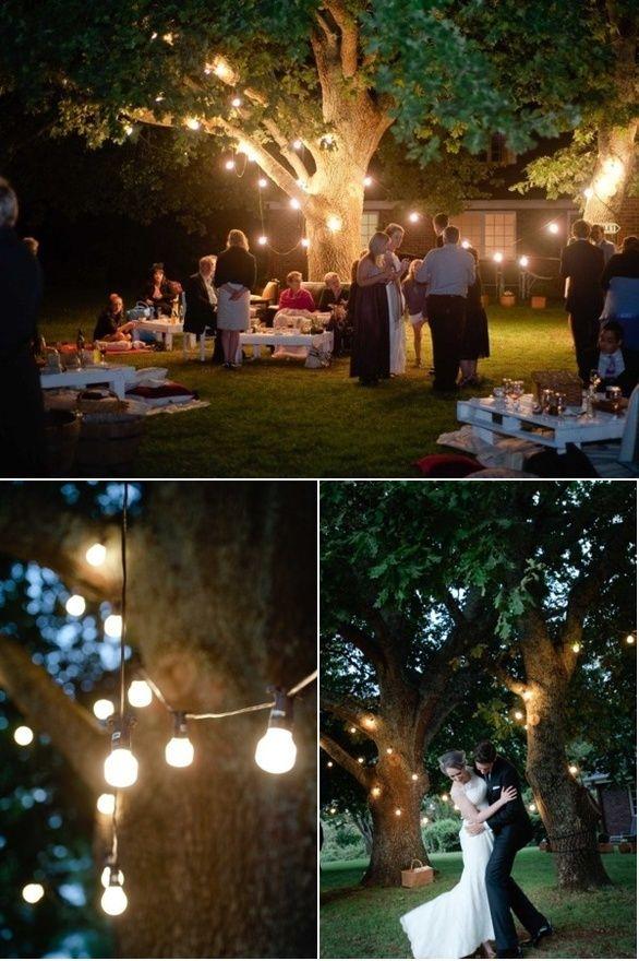 cute backyard ideas | Wedding reception seating, Wedding ...