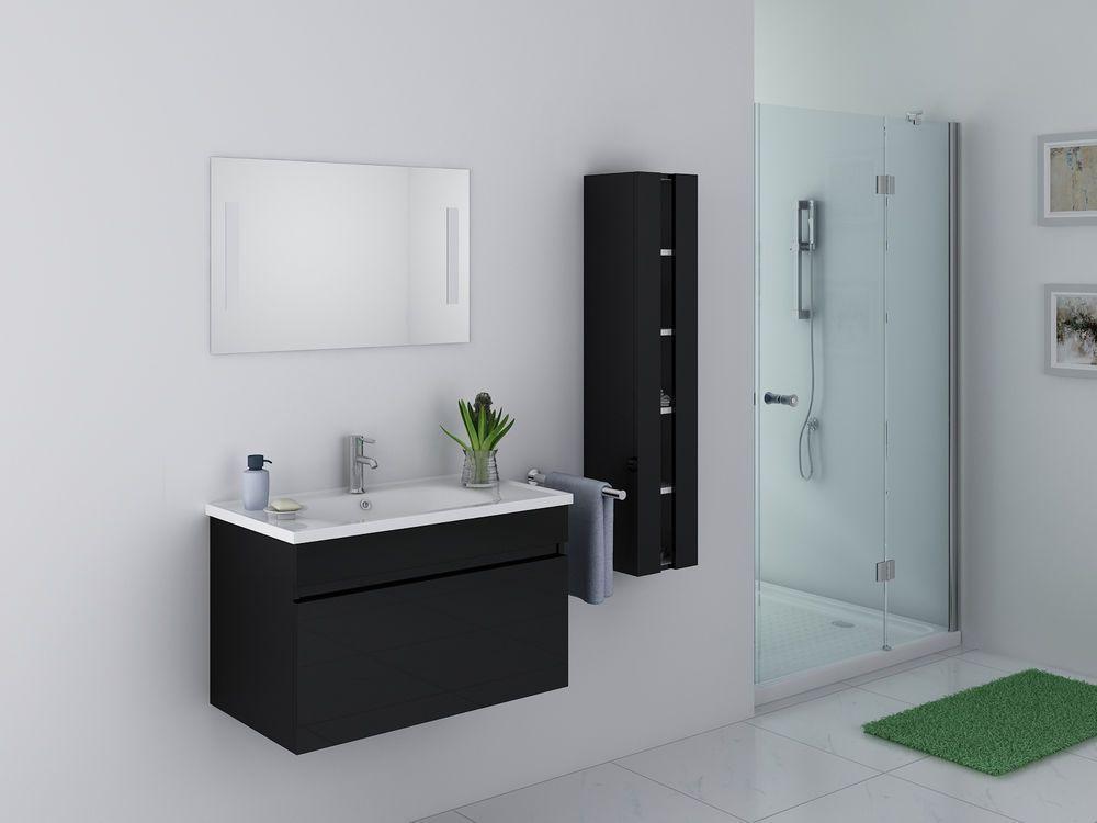 Modern 32 Single Sink Bathroom Vanity Set Black High Quality Theril Kokss