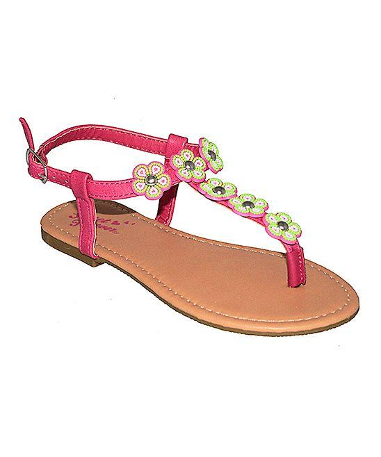 Fuchsia Flower Sandal