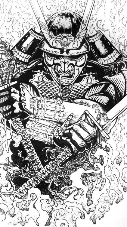 картинки для тату в виде самурая фотокниг