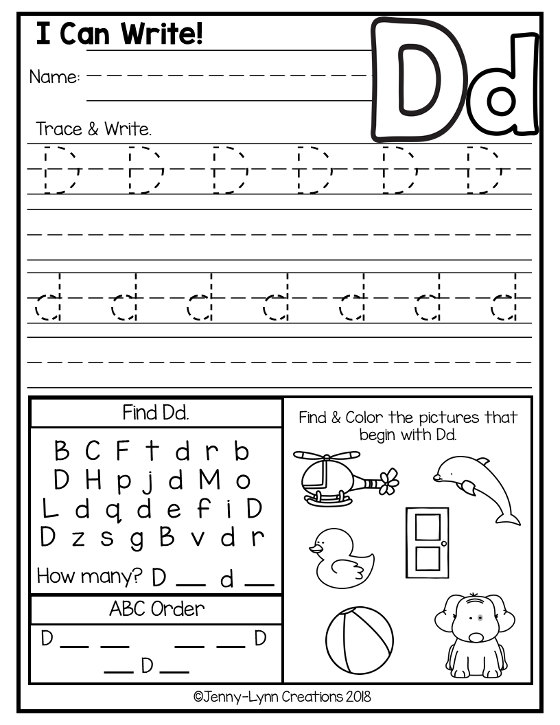 Abc Worksheets For Preschool for download free