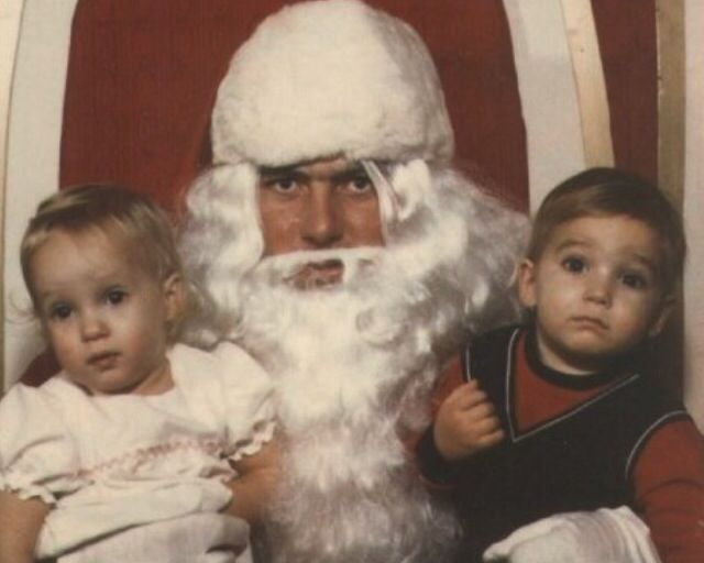 Poor Baby Boy Is Startled Creepy Christmas Bad Santa Santa Claus Is Coming To Town