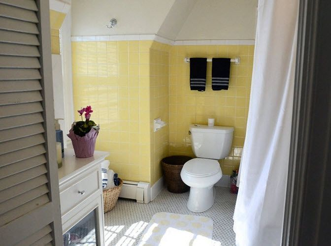 33 Vintage Yellow Bathroom Tile Ideas And Pictures Yellow Bathroom Tiles Yellow Bathrooms Tile Bathroom