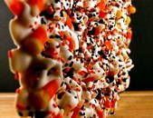 Candy Corn Chocolate Bark Only Takes Four Ingredients