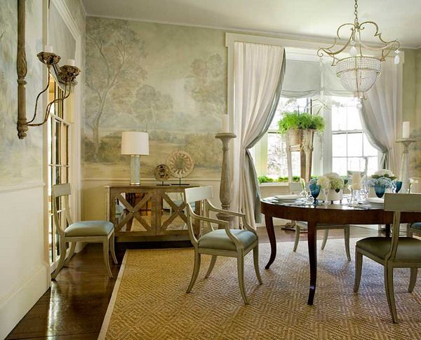 formal classic dining room wall murals dining room