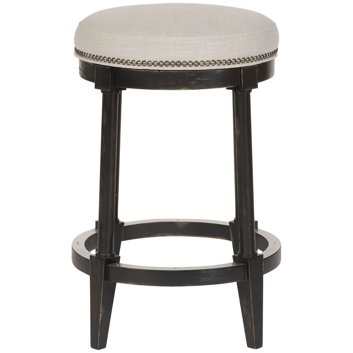 Shop For Vanguard Lydia Counter Stool, And Other Bar And Game Room Stools  At Hickory Furniture Mart In Hickory, NC. Nail Trim: Black Silver At Base.