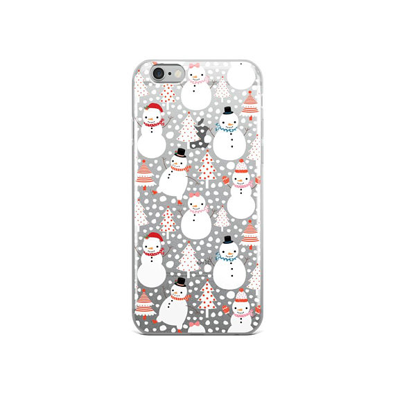Iphone 6 Plus Christmas Case.Cute Christmas Iphone Case 7 Plus Kawaii Snowman Iphone 6s