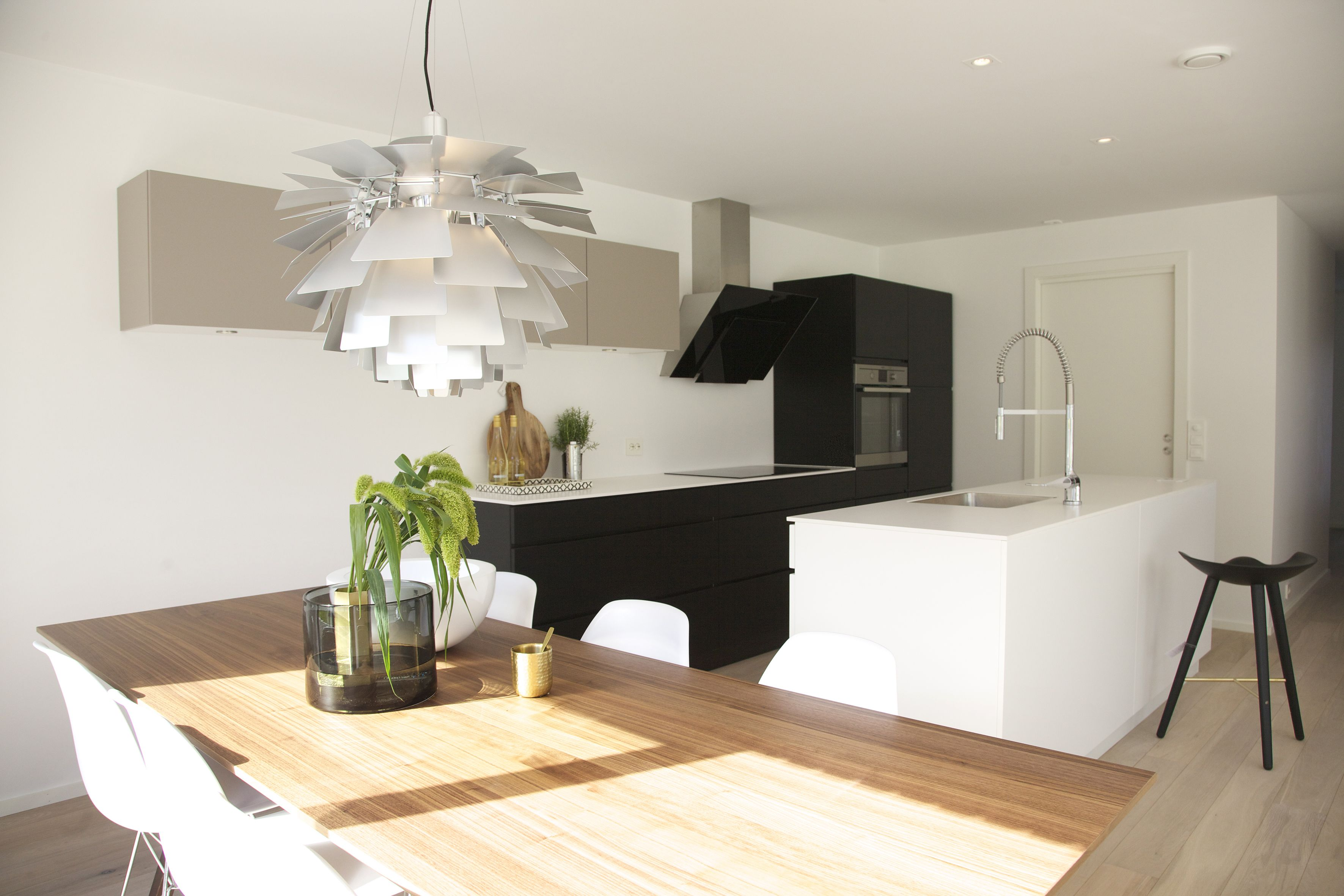 urbanhus kj¸kken kongle moderne minimalistisk gr¸nt innslag modern