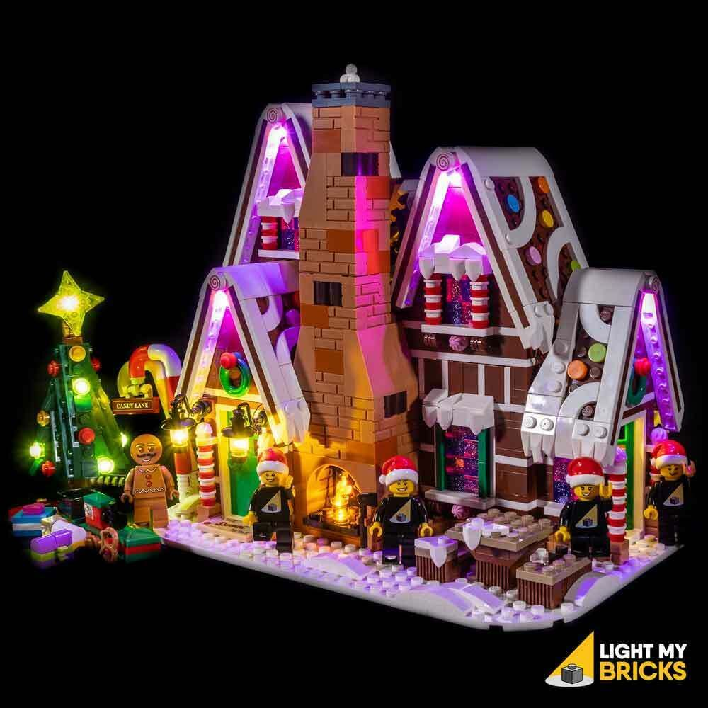 Light My Bricks Led Light Kit For Lego Gingerbread House Set 10267 Lego Gingerbread House Led Light Kits Mini Gingerbread House