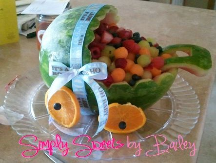 Watermelon Baby Carriage Fruit Basket Watermelon Baby Carriage