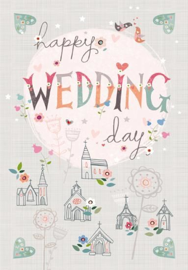 Happy Wedding Day Card Large Wedding Card With Images Happy