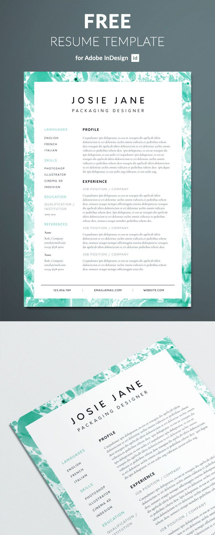Creative resume template resume template free best