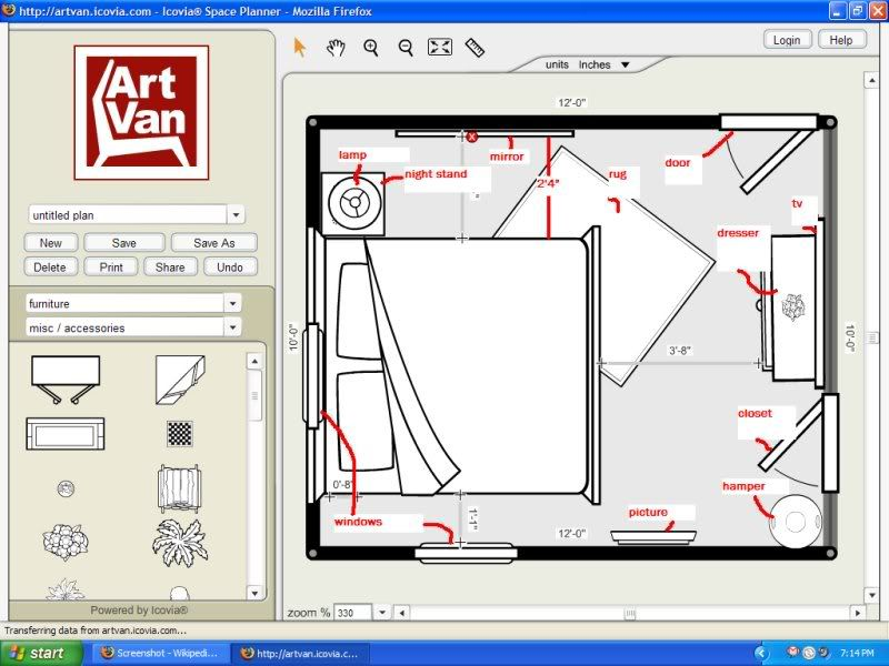 Floor Plan Photo By Phanttaja Photobucket King Size Bed In Small Room Bedroom Furniture Layout Small Room Layouts