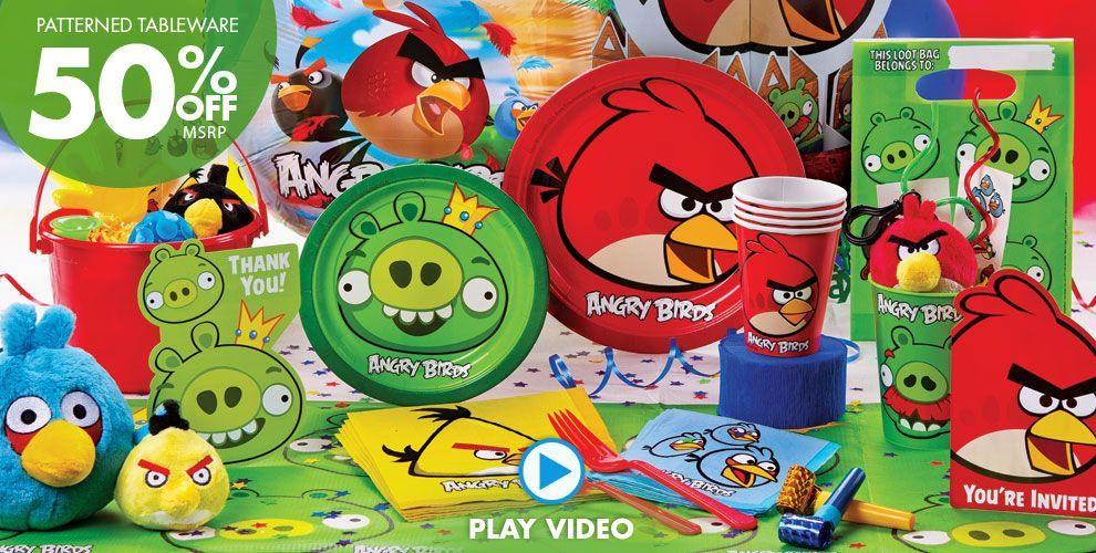 Angry Birds Party Supplies Click to watch video TODO PARA