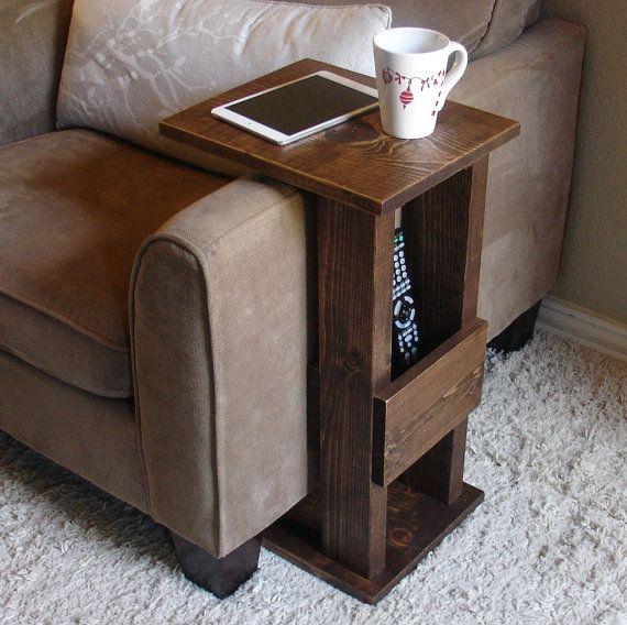 Sofa Chair Arm Rest Tray Table Stand Ii W Storage Pocket