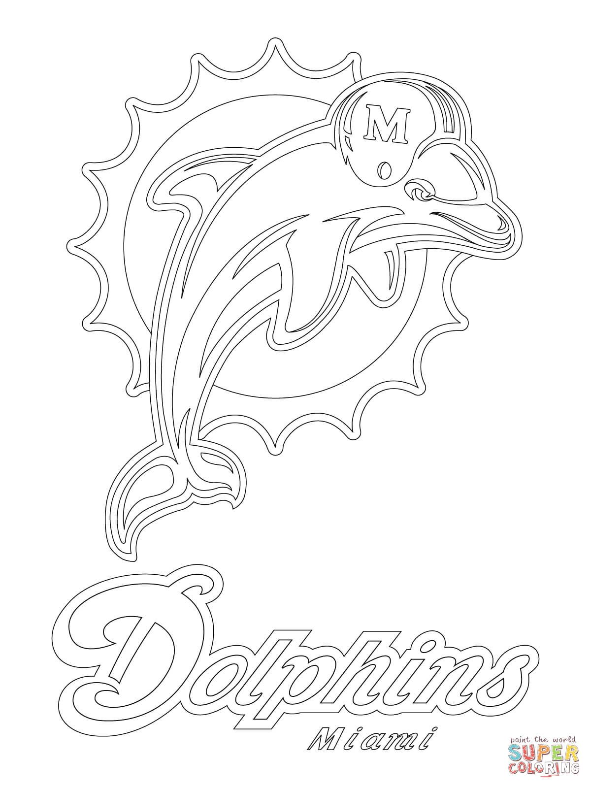 Miami Dolphins Logo Super Coloring Dolphin Coloring Pages