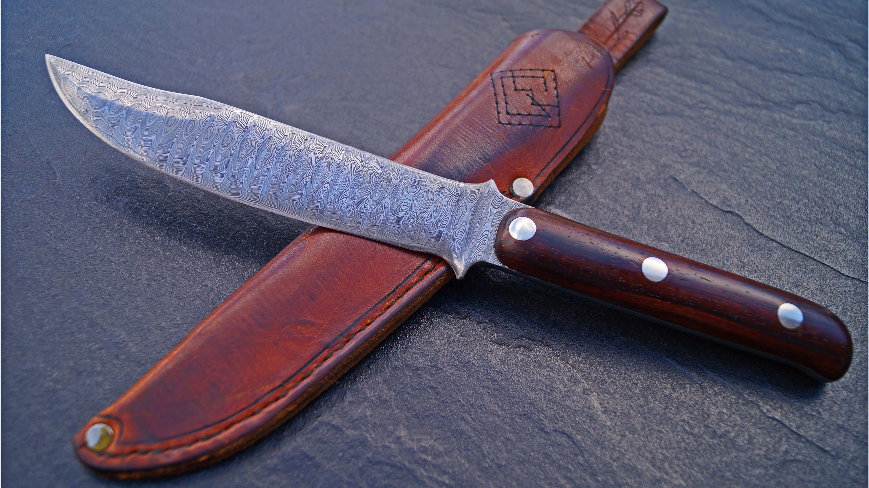 Küchenprofi Messer Real ~ custom bowie knife manfred sachse damaszener klinge real damast blade germany messer custom