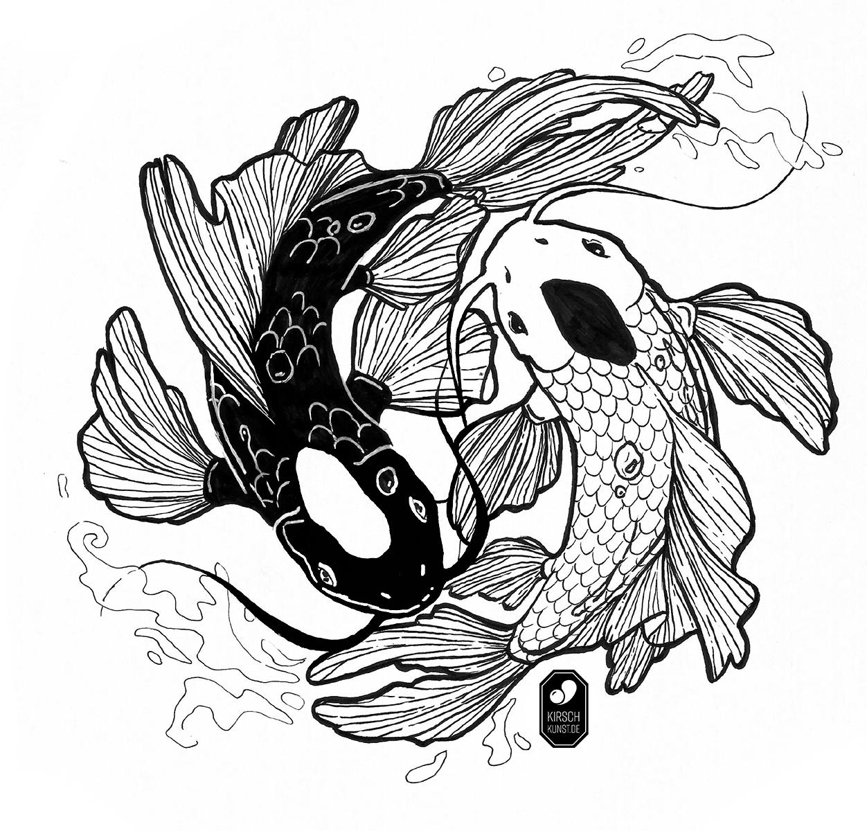 Ying Yang Fish Tui And La Ying Yang Tattoo Avatar Tattoo Japanese Tattoo Art