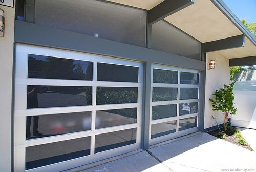 Lovely Homes Featured In The 2009 San Mateo Highlands Eichler Tour Some Nice  Roll Up Garage Doors With Frosted Glass. Notice The Frosted Glass Above The  Doors As ...