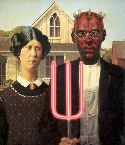 American Gothic Star Wars Spoof