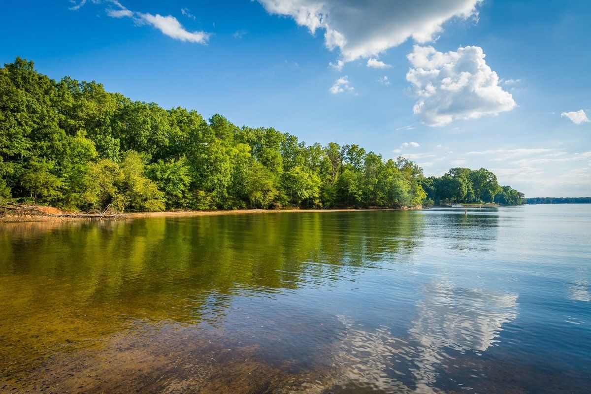 Lake Norman At Mccrary Access Area In Mooresville North Carolina Mounted Photo Print Stretched Lake Norman North Carolina Stretched Canvas Wall Art Lake