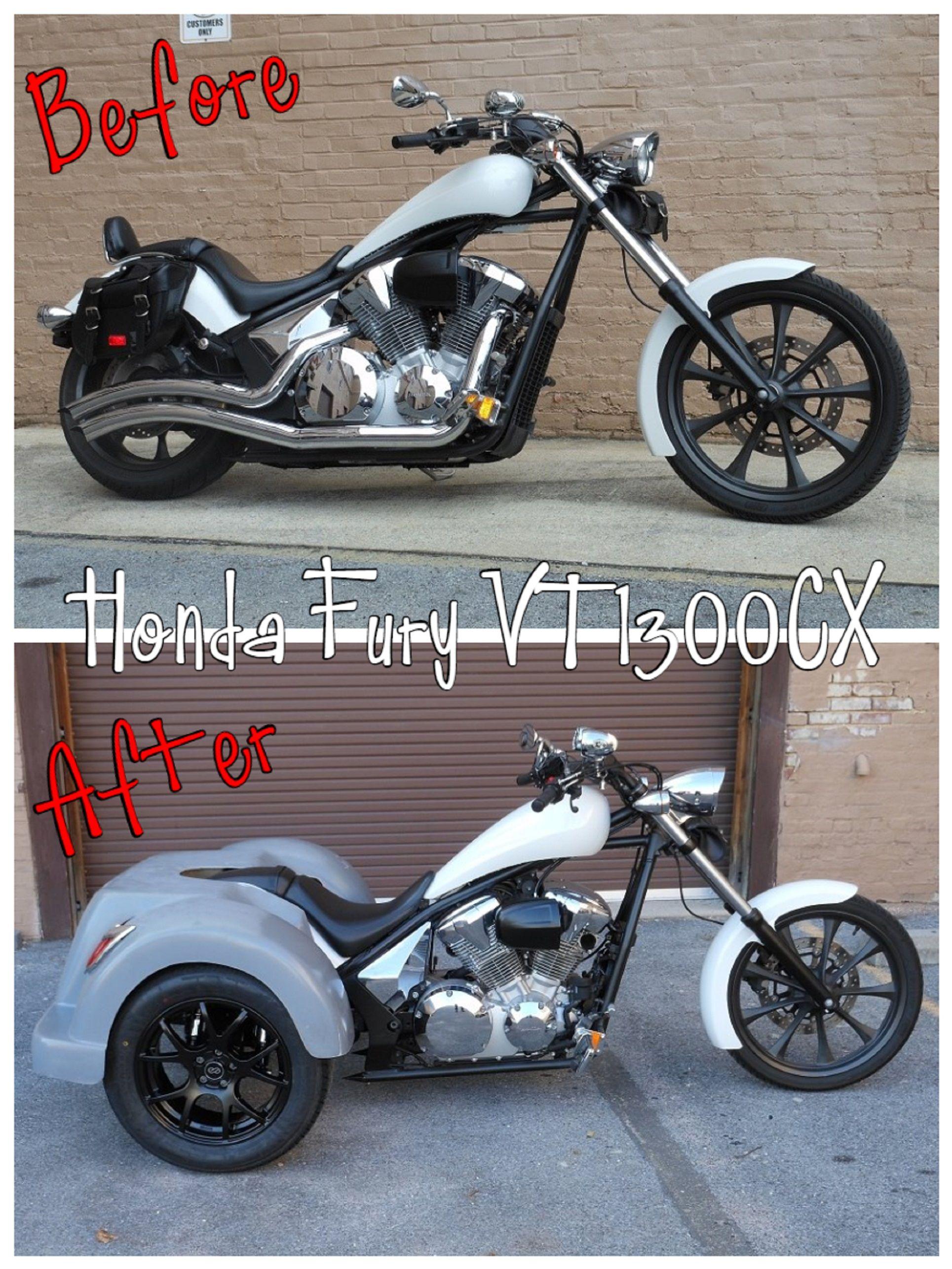 Honda Fury Vt1300cx Trike Before After Http Facebook Com Pg Fullcirclevtwin Photos Tab Album Album Id 584044338333359 Honda Fury Honda Cruiser Fury [ 2571 x 1929 Pixel ]