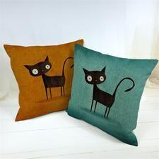 Cartoon Cat Throw Pillows