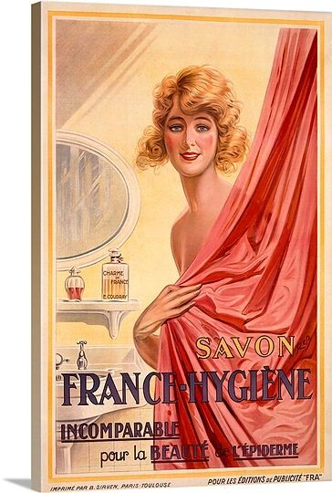 Savon France Hygiene Vintage Poster In 2021 Global Gallery Vintage Advertisement Vintage Advertisements