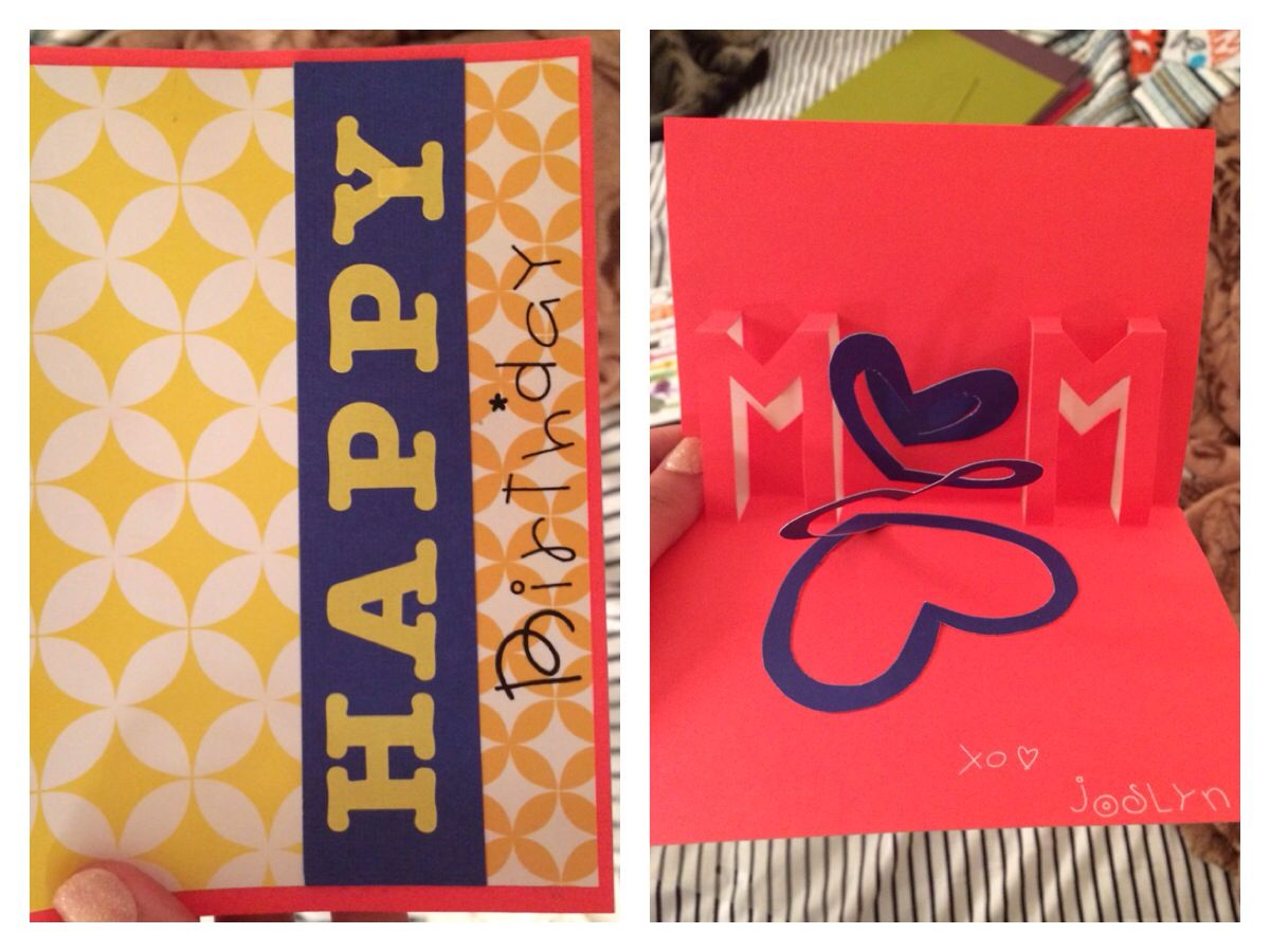 For my momus birthday this year diy homemade birthday card with d