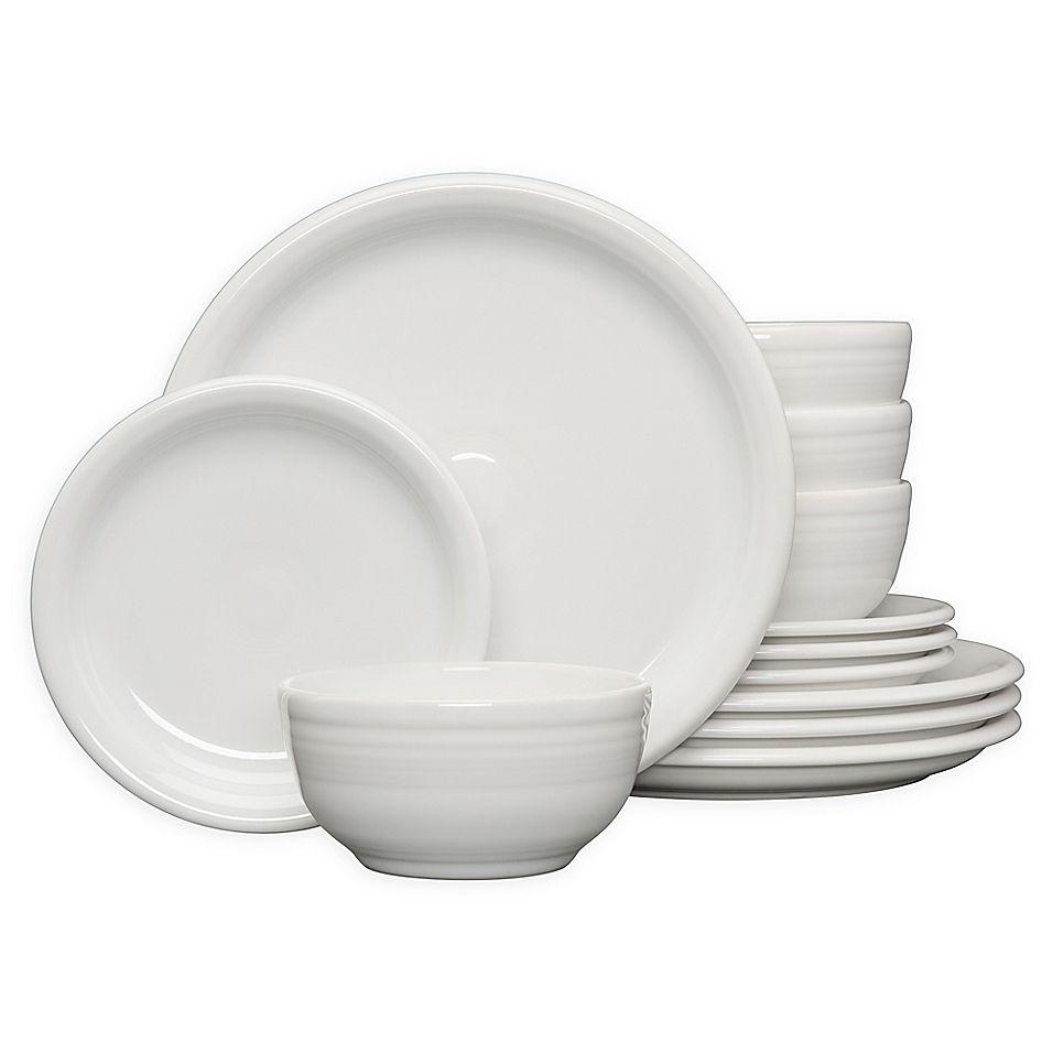 Fiesta 12 Piece Bistro Dinnerware Set In White Dinnerware