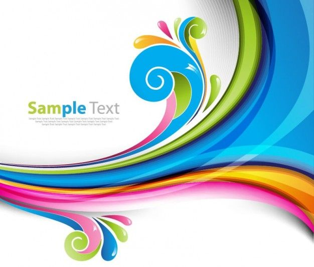Fresh And Colorful Wave Splash Abstract Background In EPS Vector