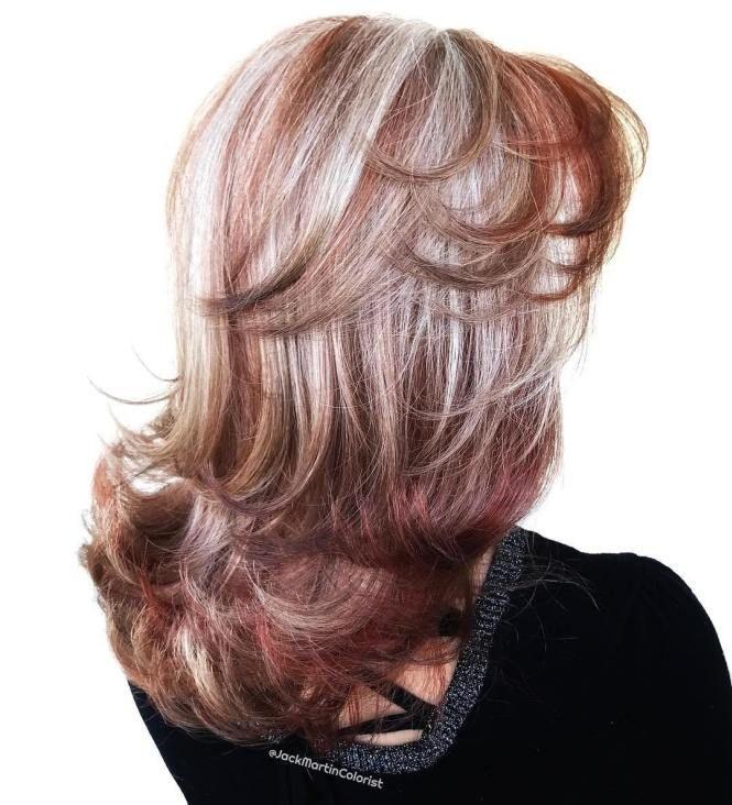 60 Shades Of Grey Silver And White Highlights For Eternal Youth Hair Color Auburn Blending Gray Hair Burgundy Hair