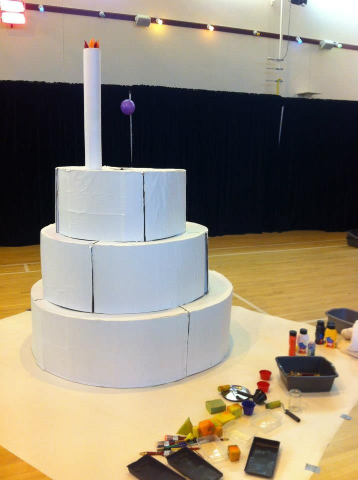 Giant Cardboard Birthday Cake For Kids To Paint And Decorate