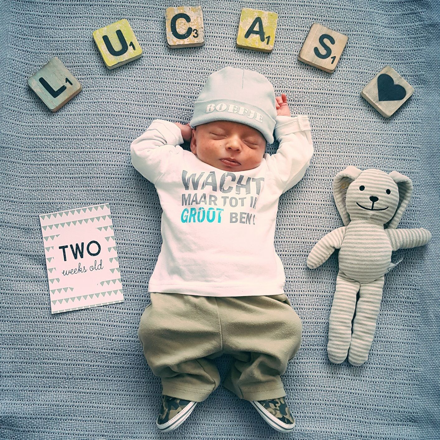 Baby boy newborn 2 weeks old photo idea milestone baby boy pictures boy photos