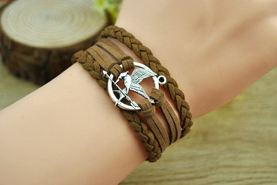 The Hunger GamesSilvery Alloy & Brown Leather Cord by Richardwu, $5.99