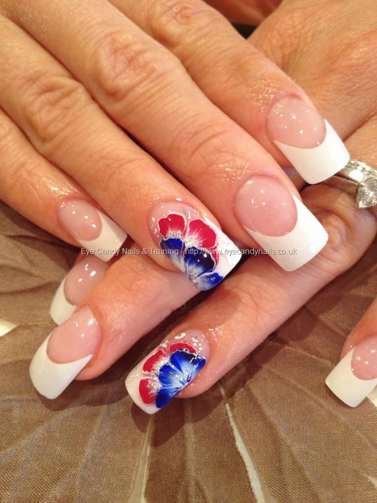 Nail Technician:Elaine Moore  Description: Jubilee one stroke nail art   @ www.eyecandynails.co.uk