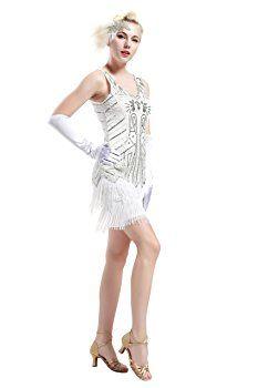 White Great Gatsby Dress Weddings Dresses
