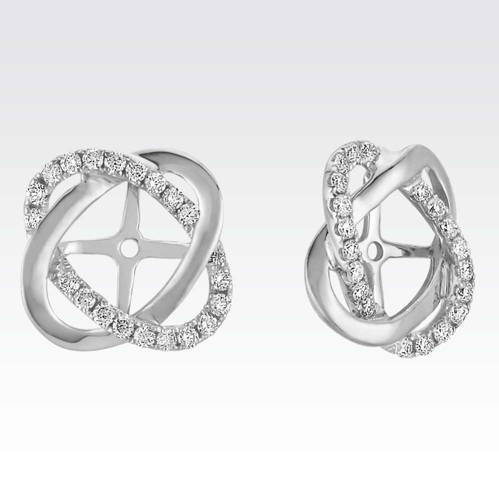 Give Your Solitaire Earrings A Whole New Look With These Twist Diamond Earring Jackets. Forty ...