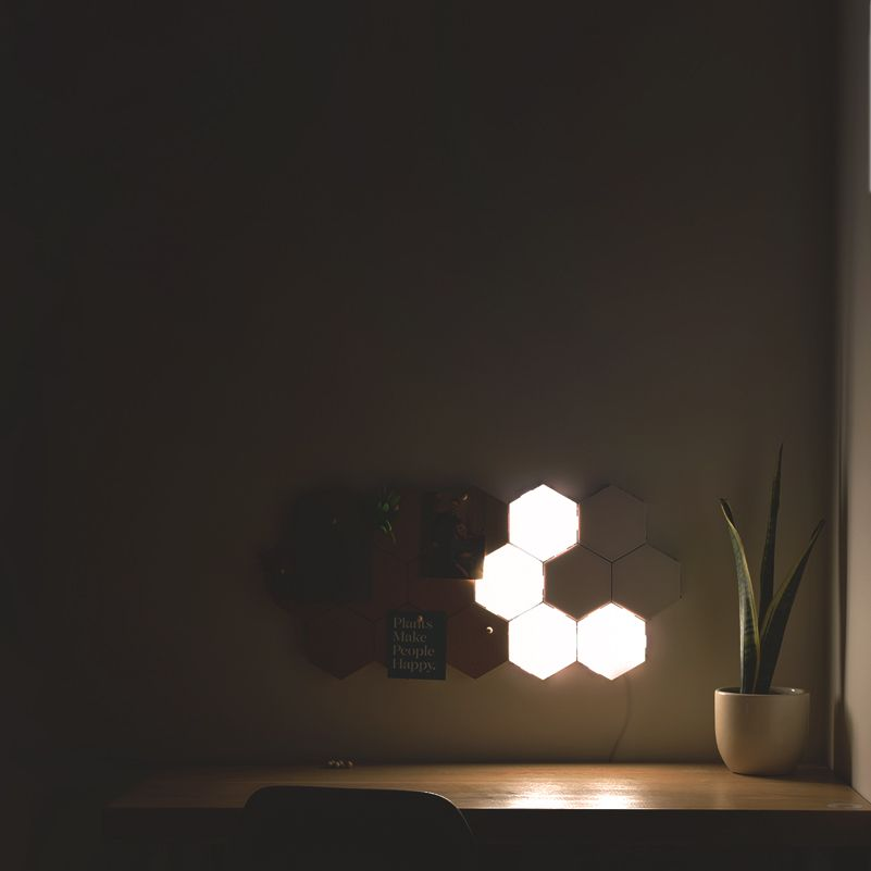 Diy Modular Desk Lighting In 2020 Wall Lights Desk Light Geometric Wall