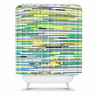 In Due Time Shower Curtain #district17