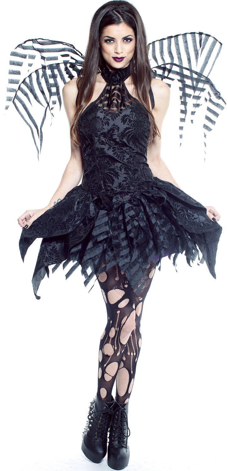 Dainty Dark Gothic Fairy Sexy Costume  ecaeaf676bb6