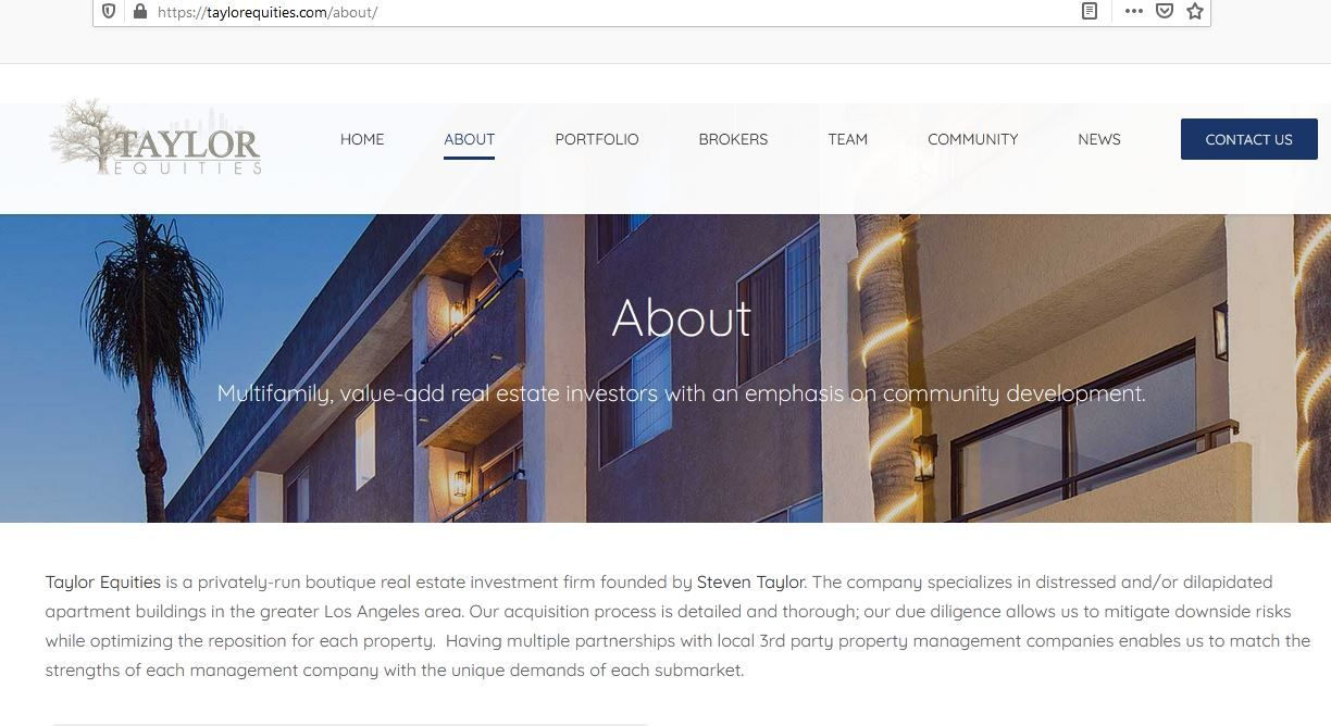 Get To Know Taylor Equities In 2020 Real Estate Investing Investment Firms Real Estate Investment Fund